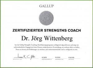 zertifizierter GALLUP StrengthsCoach 2018