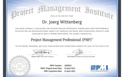 Neu zertifiziert als Project Management Professional